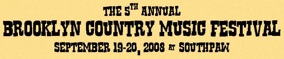 5th Annual Brooklyn Country Music Festival