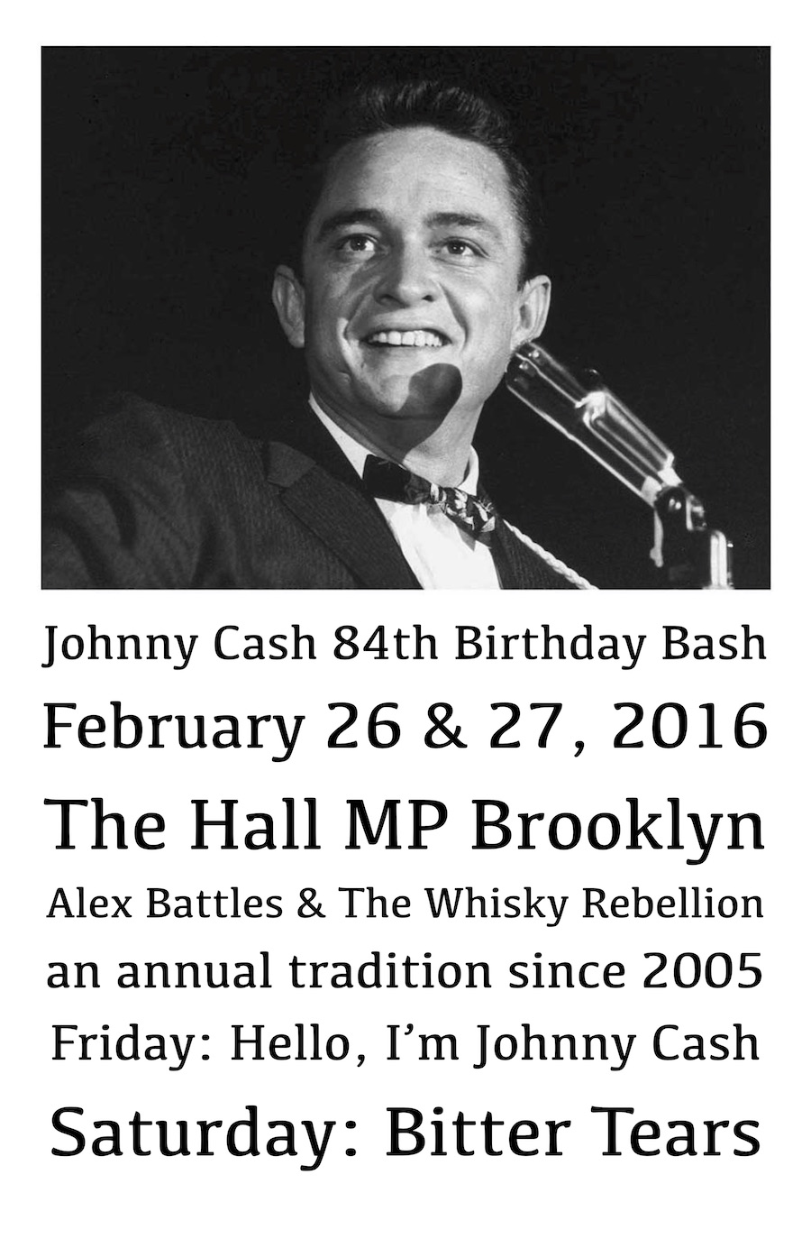 The Johnny Cash 84th Birthday                     Bash at The Hall at MP Brooklyn